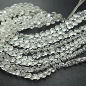 Shop Topaz Faceted Beads! 7 Inches Strand,Finest Quality,Natural White Topaz Faceted Onion,Size.5-5.5mm | Natural genuine faceted Topaz beads for beading and jewelry making.  #jewelry #beads #beadedjewelry #diyjewelry #jewelrymaking #beadstore #beading #affiliate #ad