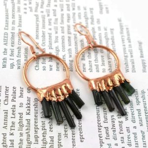 Shop Tourmaline Earrings! Natural Tourmaline Gemstone Earring | Circle Earring | Pencil Earring | Dangle & Drop Earring | Earring For Women | Hanging Earring Jewelry | Natural genuine Tourmaline earrings. Buy crystal jewelry, handmade handcrafted artisan jewelry for women.  Unique handmade gift ideas. #jewelry #beadedearrings #beadedjewelry #gift #shopping #handmadejewelry #fashion #style #product #earrings #affiliate #ad