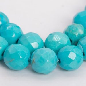Shop Turquoise Faceted Beads! 60 / 30 Pcs – 6MM Mint Blue Turquoise Beads Grade AAA Faceted Round Gemstone Loose Beads (102607) | Natural genuine faceted Turquoise beads for beading and jewelry making.  #jewelry #beads #beadedjewelry #diyjewelry #jewelrymaking #beadstore #beading #affiliate #ad