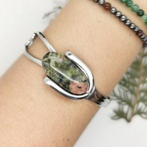 Shop Unakite Bracelets! unakite bracelet, handmade cuff, Christmas gifts for grandma, silver bangles for women, unusual jewelry, fork jewelry, secret Santa gifts   Natural genuine Unakite bracelets. Buy crystal jewelry, handmade handcrafted artisan jewelry for women.  Unique handmade gift ideas. #jewelry #beadedbracelets #beadedjewelry #gift #shopping #handmadejewelry #fashion #style #product #bracelets #affiliate #ad