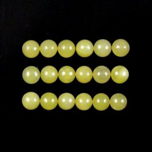 Shop Serpentine Cabochons! Yellow Serpentine Cab Round 7mm Approximately 20 Carat,  Beautiful Yellow Color Smooth Cabochon, For Jewelry Making (6287)   Natural genuine stones & crystals in various shapes & sizes. Buy raw cut, tumbled, or polished gemstones for making jewelry or crystal healing energy vibration raising reiki stones. #crystals #gemstones #crystalhealing #crystalsandgemstones #energyhealing #affiliate #ad