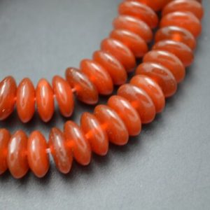 1 strand 4x10mm Pure Red Agate Carnelian Spacer Rondelle Fly Saucer Beads Jewelry Parts   Natural genuine rondelle Carnelian beads for beading and jewelry making.  #jewelry #beads #beadedjewelry #diyjewelry #jewelrymaking #beadstore #beading #affiliate #ad