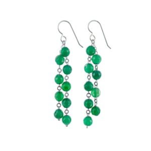 Shop Agate Earrings! Green Gemstones Chandelier Long Earrings for Women with Agate Beads Silver, Gifts for Her, Girlfriend or Wife | Natural genuine Agate earrings. Buy crystal jewelry, handmade handcrafted artisan jewelry for women.  Unique handmade gift ideas. #jewelry #beadedearrings #beadedjewelry #gift #shopping #handmadejewelry #fashion #style #product #earrings #affiliate #ad
