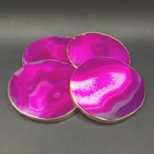 Shop Raw & Rough Agate Stones! Pink Agate Coasters set of 4pieces Gold Finished Agate Geode Slice Coasters Gold Agate Coasters for Wedding/Party/Dinner Home Decor01 | Natural genuine stones & crystals in various shapes & sizes. Buy raw cut, tumbled, or polished gemstones for making jewelry or crystal healing energy vibration raising reiki stones. #crystals #gemstones #crystalhealing #crystalsandgemstones #energyhealing #affiliate #ad