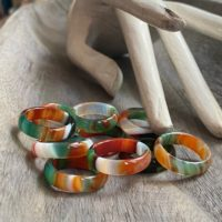 Carved Stone Ring, Fancy Agate Ring, Agate Stone Ring, Multi Color Agate Band Ring, solid Stone Band, Natural Stone Ring, Solid Gemstone Ring | Natural genuine Gemstone jewelry. Buy crystal jewelry, handmade handcrafted artisan jewelry for women.  Unique handmade gift ideas. #jewelry #beadedjewelry #beadedjewelry #gift #shopping #handmadejewelry #fashion #style #product #jewelry #affiliate #ad