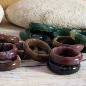 Shop Agate Rings! Agate stone ring    Stone band ring   Indian Agate stone band   Polished stone ring   Natural stone ring   Natural genuine Agate rings, simple unique handcrafted gemstone rings. #rings #jewelry #shopping #gift #handmade #fashion #style #affiliate #ad