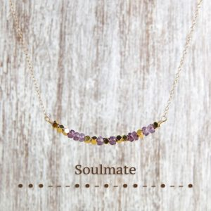 Shop Alexandrite Necklaces! Alexandrite necklace Custom word MORSE CODE necklace SOULMATE jewelry | Natural genuine Alexandrite necklaces. Buy crystal jewelry, handmade handcrafted artisan jewelry for women.  Unique handmade gift ideas. #jewelry #beadednecklaces #beadedjewelry #gift #shopping #handmadejewelry #fashion #style #product #necklaces #affiliate #ad