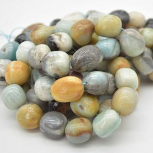 """Shop Amazonite Chip & Nugget Beads! High Quality Grade A Natural Multi-Colour Amazonite Semi-precious Gemstone Large Nugget Beads – approx 15mm – 20mm x 10mm – 12mm – 15.5""""   Natural genuine chip Amazonite beads for beading and jewelry making.  #jewelry #beads #beadedjewelry #diyjewelry #jewelrymaking #beadstore #beading #affiliate #ad"""