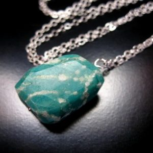 Shop Amazonite Pendants! Russian Amazonite Necklace, Sterling Silver Russian Amazonite Nugget, Russian Amazonite Jewelry, Amazonite Chain Necklace, Amazonite Pendant | Natural genuine Amazonite pendants. Buy crystal jewelry, handmade handcrafted artisan jewelry for women.  Unique handmade gift ideas. #jewelry #beadedpendants #beadedjewelry #gift #shopping #handmadejewelry #fashion #style #product #pendants #affiliate #ad