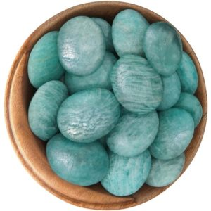 Shop Tumbled Amazonite Crystals & Pocket Stones! 1 Amazonite – Ethically Sourced Tumbled Stone | Natural genuine stones & crystals in various shapes & sizes. Buy raw cut, tumbled, or polished gemstones for making jewelry or crystal healing energy vibration raising reiki stones. #crystals #gemstones #crystalhealing #crystalsandgemstones #energyhealing #affiliate #ad