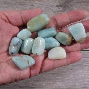 Shop Tumbled Amazonite Crystals & Pocket Stones! Amazonite Small / Medium Tumbled Stone T530 | Natural genuine stones & crystals in various shapes & sizes. Buy raw cut, tumbled, or polished gemstones for making jewelry or crystal healing energy vibration raising reiki stones. #crystals #gemstones #crystalhealing #crystalsandgemstones #energyhealing #affiliate #ad