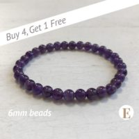 Amethyst Bracelet | 6 Mm Beads | Amethyst Beads | Stretch Bracelet | Healing Crystal Bracelet | Buy 4 Get 1 Free! | Natural genuine Gemstone jewelry. Buy crystal jewelry, handmade handcrafted artisan jewelry for women.  Unique handmade gift ideas. #jewelry #beadedjewelry #beadedjewelry #gift #shopping #handmadejewelry #fashion #style #product #jewelry #affiliate #ad