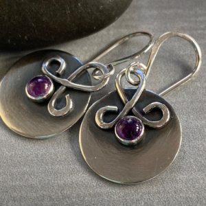 Shop Amethyst Earrings! Christmas Gift For Her, Medium Silver Earrings With Amethyst, February Birthstone Jewelry, personalized Christmas Gift | Natural genuine Amethyst earrings. Buy crystal jewelry, handmade handcrafted artisan jewelry for women.  Unique handmade gift ideas. #jewelry #beadedearrings #beadedjewelry #gift #shopping #handmadejewelry #fashion #style #product #earrings #affiliate #ad