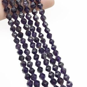 Shop Amethyst Faceted Beads! Faceted Amethyst Beads, Star Cut Beads, Gemstone Beads, 8mm, 10mm   Natural genuine faceted Amethyst beads for beading and jewelry making.  #jewelry #beads #beadedjewelry #diyjewelry #jewelrymaking #beadstore #beading #affiliate #ad