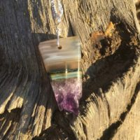 Amethyst Necklace | Natural genuine Gemstone jewelry. Buy crystal jewelry, handmade handcrafted artisan jewelry for women.  Unique handmade gift ideas. #jewelry #beadedjewelry #beadedjewelry #gift #shopping #handmadejewelry #fashion #style #product #jewelry #affiliate #ad