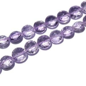 """Natural Pink Amethyst Smooth Coin Beads,Natural Pink Amethyst Beads,Natural Pink Amethyst Gemstone Beads,Amethyst Gemstone,9-11mm,18"""" Strand   Natural genuine other-shape Array beads for beading and jewelry making.  #jewelry #beads #beadedjewelry #diyjewelry #jewelrymaking #beadstore #beading #affiliate #ad"""