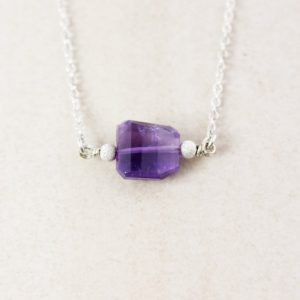 Genuine Purple Amethyst Necklace, February Amethyst, Ametrine Jewelry, Violet Stone Pendant | Natural genuine Ametrine pendants. Buy crystal jewelry, handmade handcrafted artisan jewelry for women.  Unique handmade gift ideas. #jewelry #beadedpendants #beadedjewelry #gift #shopping #handmadejewelry #fashion #style #product #pendants #affiliate #ad