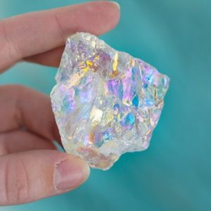 Shop Angel Aura Quartz Stones & Crystals! Raw Rainbow Aura Clear Quartz (Rough Angel Aura Quartz) | Natural genuine stones & crystals in various shapes & sizes. Buy raw cut, tumbled, or polished gemstones for making jewelry or crystal healing energy vibration raising reiki stones. #crystals #gemstones #crystalhealing #crystalsandgemstones #energyhealing #affiliate #ad