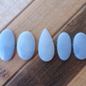 Shop Angelite Cabochons! Blue Angelite cabochon   Natural genuine stones & crystals in various shapes & sizes. Buy raw cut, tumbled, or polished gemstones for making jewelry or crystal healing energy vibration raising reiki stones. #crystals #gemstones #crystalhealing #crystalsandgemstones #energyhealing #affiliate #ad