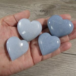 Shop Angelite Stones & Crystals! Angelite Stone Shaped Heart  1.5 inch plus K416   Natural genuine stones & crystals in various shapes & sizes. Buy raw cut, tumbled, or polished gemstones for making jewelry or crystal healing energy vibration raising reiki stones. #crystals #gemstones #crystalhealing #crystalsandgemstones #energyhealing #affiliate #ad