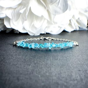 Apatite Bracelet Jewelry Gift – Positive Energy Jewelry, Throat Chakra, Blue Bracelet, Girlfriend Gift For Her, Blue Ankle Bracelet   Natural genuine Gemstone bracelets. Buy crystal jewelry, handmade handcrafted artisan jewelry for women.  Unique handmade gift ideas. #jewelry #beadedbracelets #beadedjewelry #gift #shopping #handmadejewelry #fashion #style #product #bracelets #affiliate #ad