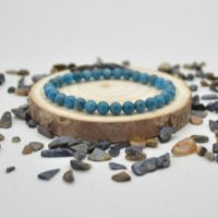 """Natural Apatite Semi-precious Gemstone Round Beads Sample Strand / Bracelet – 6mm Or 8mm Size – Approx 7.5"""" 