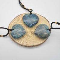 Natural Apatite Heart Shaped Semi-precious Gemstone Pendant With Cord – Approx Size 3.5cm – 4cm | Natural genuine Gemstone jewelry. Buy crystal jewelry, handmade handcrafted artisan jewelry for women.  Unique handmade gift ideas. #jewelry #beadedjewelry #beadedjewelry #gift #shopping #handmadejewelry #fashion #style #product #jewelry #affiliate #ad