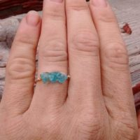 Light Blue Apatite Crystal Ring- Made To Order | Natural genuine Gemstone jewelry. Buy crystal jewelry, handmade handcrafted artisan jewelry for women.  Unique handmade gift ideas. #jewelry #beadedjewelry #beadedjewelry #gift #shopping #handmadejewelry #fashion #style #product #jewelry #affiliate #ad