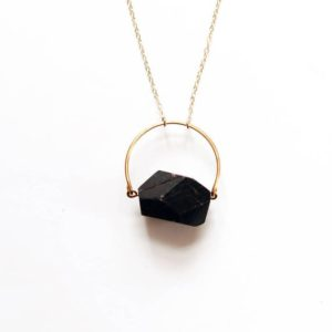 Arch Black Tourmaline Necklace |  Black Stone Necklace | Gold Tourmaline Necklace | Sterling Tourmaline | Stone Jewelry | Tourmaline Jewelry | Natural genuine Black Tourmaline necklaces. Buy crystal jewelry, handmade handcrafted artisan jewelry for women.  Unique handmade gift ideas. #jewelry #beadednecklaces #beadedjewelry #gift #shopping #handmadejewelry #fashion #style #product #necklaces #affiliate #ad