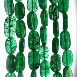 Shop Aventurine Chip & Nugget Beads! 10×7-14x7mm Green Moss Aventurine Gemstone Pebble Nugget Loose Beads 13-14 inch Full Strand (90185166-892) | Natural genuine chip Aventurine beads for beading and jewelry making.  #jewelry #beads #beadedjewelry #diyjewelry #jewelrymaking #beadstore #beading #affiliate #ad