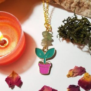 Shop Aventurine Necklaces! Plant Necklace With Lucky Green Aventurine – Health And Luck   Natural genuine Aventurine necklaces. Buy crystal jewelry, handmade handcrafted artisan jewelry for women.  Unique handmade gift ideas. #jewelry #beadednecklaces #beadedjewelry #gift #shopping #handmadejewelry #fashion #style #product #necklaces #affiliate #ad