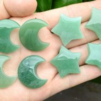 Green Aventurine Moon / star Pendants, no Hole Moon / star Pendants, for Diy Jewelry Making, wholesale Pendants, gemstone Moon / star Pendants. | Natural genuine Gemstone jewelry. Buy crystal jewelry, handmade handcrafted artisan jewelry for women.  Unique handmade gift ideas. #jewelry #beadedjewelry #beadedjewelry #gift #shopping #handmadejewelry #fashion #style #product #jewelry #affiliate #ad