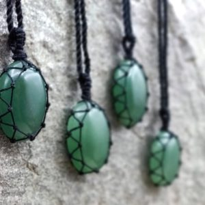 Shop Aventurine Pendants! Green Aventurine Necklace For Men And Women, Emf Protection Crystal Jewelry, Green Stone Pendant Necklace, Good Luck Gifts For Him & Her   Natural genuine Aventurine pendants. Buy handcrafted artisan men's jewelry, gifts for men.  Unique handmade mens fashion accessories. #jewelry #beadedpendants #beadedjewelry #shopping #gift #handmadejewelry #pendants #affiliate #ad