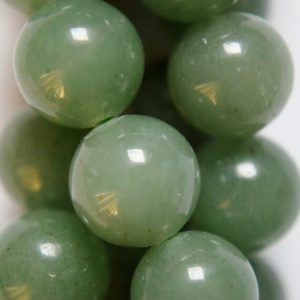 """Shop Aventurine Round Beads! Natural Green Aventurine beads – Round 12 mm Gemstone Beads – Full Strand 16"""", 32 beads, A Quality 