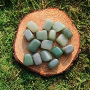 Shop Tumbled Aventurine Crystals & Pocket Stones! Green Aventurine Medium Tumbled | Natural genuine stones & crystals in various shapes & sizes. Buy raw cut, tumbled, or polished gemstones for making jewelry or crystal healing energy vibration raising reiki stones. #crystals #gemstones #crystalhealing #crystalsandgemstones #energyhealing #affiliate #ad
