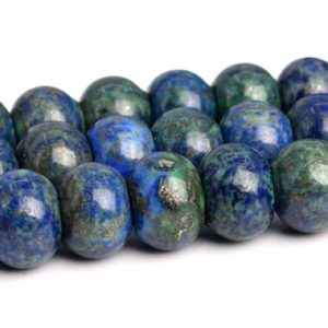 """10x8MM Azurite Beads Grade AAA Natural Gemstone Rondelle Loose Beads 15"""" / 7.5"""" Bulk Lot Options (103170) 