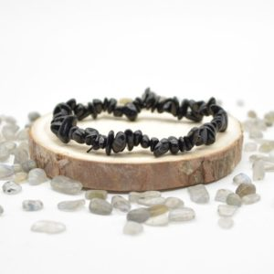 """Shop Black Tourmaline Chip & Nugget Beads! Natural Black Tourmaline Semi-precious Gemstone Chip / Nugget Beads Sample strand / Bracelet – 5mm – 8mm, approx 7.5""""   Natural genuine chip Black Tourmaline beads for beading and jewelry making.  #jewelry #beads #beadedjewelry #diyjewelry #jewelrymaking #beadstore #beading #affiliate #ad"""