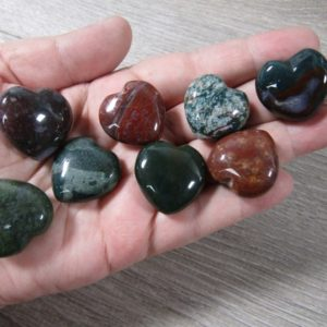 Bloodstone Stone Puffy Shaped Heart K414 | Natural genuine stones & crystals in various shapes & sizes. Buy raw cut, tumbled, or polished gemstones for making jewelry or crystal healing energy vibration raising reiki stones. #crystals #gemstones #crystalhealing #crystalsandgemstones #energyhealing #affiliate #ad
