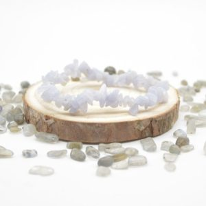 """Shop Blue Lace Agate Chip & Nugget Beads! Natural Blue Lace Agate Semi-precious Gemstone Chip / Nugget Beads Sample strand / Bracelet – 5mm – 8mm, approx 7.5""""   Natural genuine chip Blue Lace Agate beads for beading and jewelry making.  #jewelry #beads #beadedjewelry #diyjewelry #jewelrymaking #beadstore #beading #affiliate #ad"""