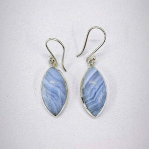 Shop Blue Lace Agate Earrings! Blue Lace Agate Earring, 925 Sterling Silver Earring, Handmade Boho Jewelry, Women's Earring, Agate Earring, Christmas Gift, Gift for her.   Natural genuine Blue Lace Agate earrings. Buy crystal jewelry, handmade handcrafted artisan jewelry for women.  Unique handmade gift ideas. #jewelry #beadedearrings #beadedjewelry #gift #shopping #handmadejewelry #fashion #style #product #earrings #affiliate #ad