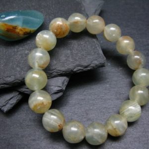 Shop Calcite Bracelets! Lemurian Aquatine Calcite Genuine Bracelet ~ 7 Inches  ~ 12mm  Round Beads   Natural genuine Calcite bracelets. Buy crystal jewelry, handmade handcrafted artisan jewelry for women.  Unique handmade gift ideas. #jewelry #beadedbracelets #beadedjewelry #gift #shopping #handmadejewelry #fashion #style #product #bracelets #affiliate #ad