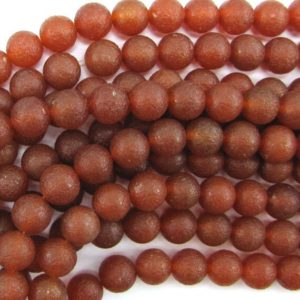 """Shop Carnelian Round Beads! 12mm Matte Red Carnelian Round Beads 15"""" Strand S2 33544 