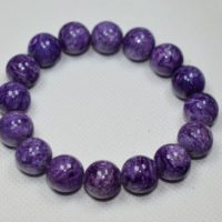 Charoite Bracelet Large 13mm Beads | Natural genuine Gemstone jewelry. Buy crystal jewelry, handmade handcrafted artisan jewelry for women.  Unique handmade gift ideas. #jewelry #beadedjewelry #beadedjewelry #gift #shopping #handmadejewelry #fashion #style #product #jewelry #affiliate #ad