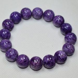 Shop Charoite Bracelets! Charoite Bracelet Large 13mm Beads | Natural genuine Charoite bracelets. Buy crystal jewelry, handmade handcrafted artisan jewelry for women.  Unique handmade gift ideas. #jewelry #beadedbracelets #beadedjewelry #gift #shopping #handmadejewelry #fashion #style #product #bracelets #affiliate #ad