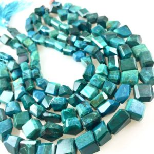 Shop Chrysocolla Chip & Nugget Beads! Chrysocolla faceted nuggets   Natural genuine chip Chrysocolla beads for beading and jewelry making.  #jewelry #beads #beadedjewelry #diyjewelry #jewelrymaking #beadstore #beading #affiliate #ad