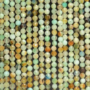 Shop Chrysocolla Faceted Beads! 4mm Genuine Light Green Blue Shattuckite Chrysocolla Gemstone Grade Aa Micro Faceted Round Loose Beads 15 Inch Full Strand (80010200-a193)   Natural genuine faceted Chrysocolla beads for beading and jewelry making.  #jewelry #beads #beadedjewelry #diyjewelry #jewelrymaking #beadstore #beading #affiliate #ad