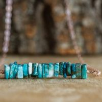 Chrysocolla Bar Necklace – Blue Stone Necklace – Chakra Necklace – Gift For Her – Gemstone Necklace – Healing Crystal Jewelry   Natural genuine Gemstone jewelry. Buy crystal jewelry, handmade handcrafted artisan jewelry for women.  Unique handmade gift ideas. #jewelry #beadedjewelry #beadedjewelry #gift #shopping #handmadejewelry #fashion #style #product #jewelry #affiliate #ad