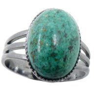 Chrysocolla Ring Blue-green Gemstone Oval Adjustable Gunmetal | Natural genuine Gemstone jewelry. Buy crystal jewelry, handmade handcrafted artisan jewelry for women.  Unique handmade gift ideas. #jewelry #beadedjewelry #beadedjewelry #gift #shopping #handmadejewelry #fashion #style #product #jewelry #affiliate #ad