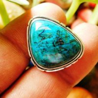 Chrysocolla Ring, Sterling Silver Ring, Chrysocolla Gemstone Ring,  Artisan Ring, Men's Ring, Gift Ring, Handmade Ring, (r-109) | Natural genuine Gemstone jewelry. Buy crystal jewelry, handmade handcrafted artisan jewelry for women.  Unique handmade gift ideas. #jewelry #beadedjewelry #beadedjewelry #gift #shopping #handmadejewelry #fashion #style #product #jewelry #affiliate #ad