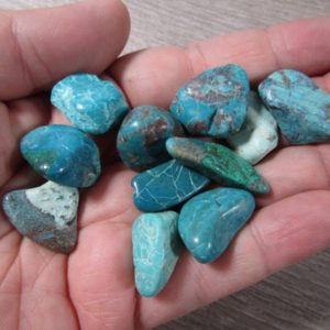 Shop Tumbled Chrysocolla Crystals & Pocket Stones! Chrysocolla Small / Medium Tumbled T267   Natural genuine stones & crystals in various shapes & sizes. Buy raw cut, tumbled, or polished gemstones for making jewelry or crystal healing energy vibration raising reiki stones. #crystals #gemstones #crystalhealing #crystalsandgemstones #energyhealing #affiliate #ad